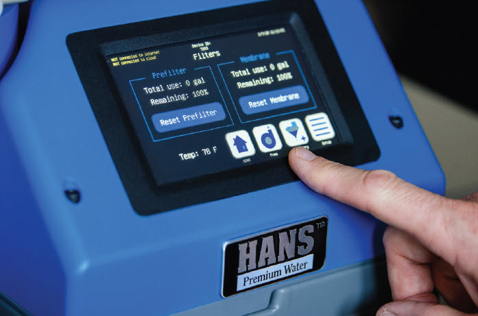 HANS™ Premium Water Control Panel